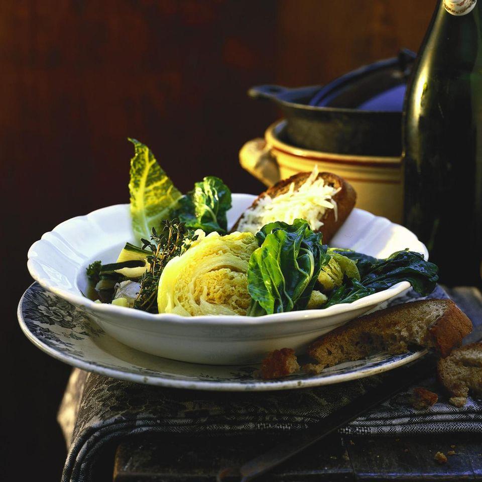 Kohl-Mangold-Gemüse