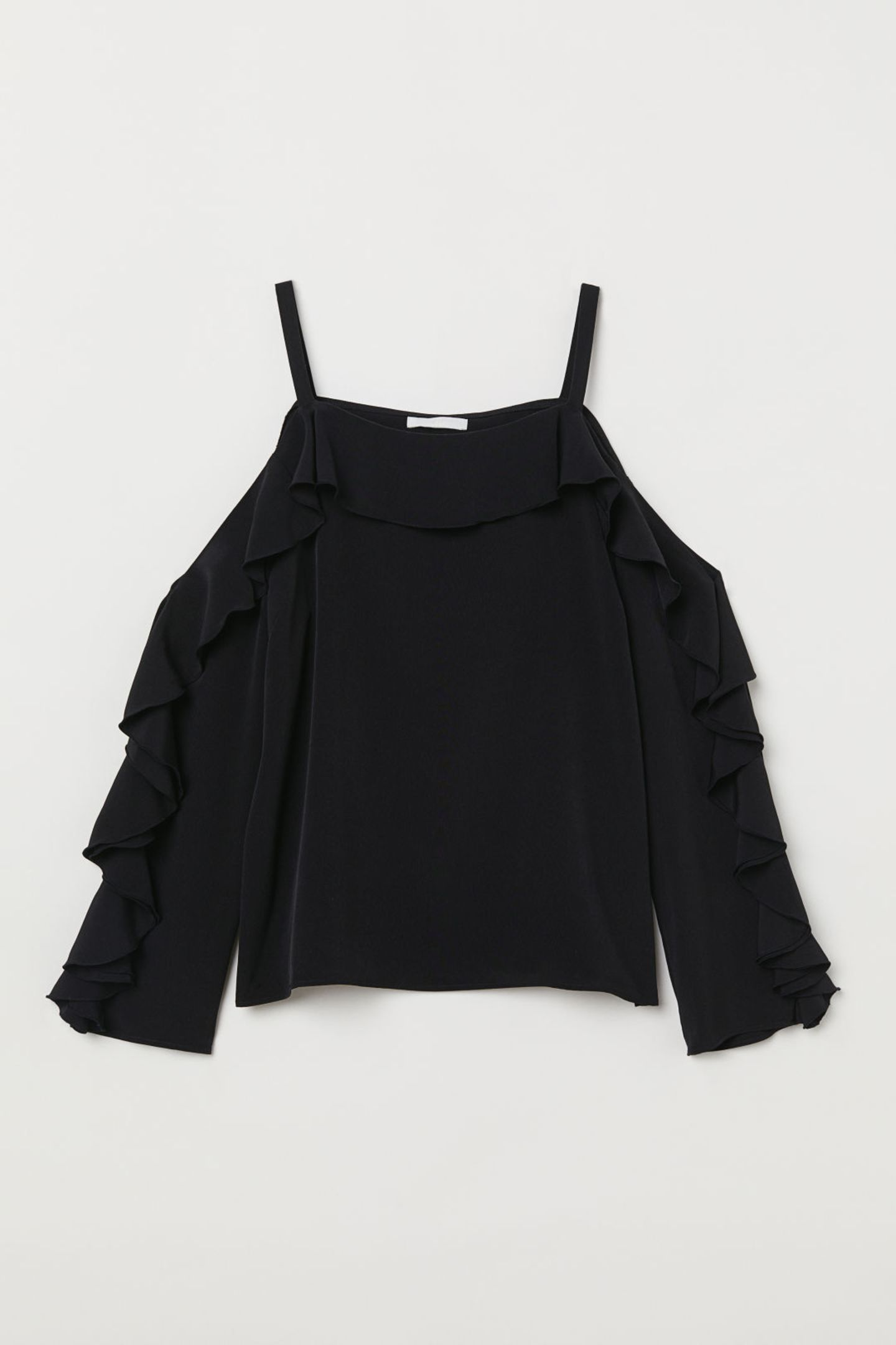... zeigen wir diese Saison jedem. Und zwar mit diesersüßenCold-Shoulder-Bluse von H&M.  Für etwa 13 Eurobei H&M erhältlich.