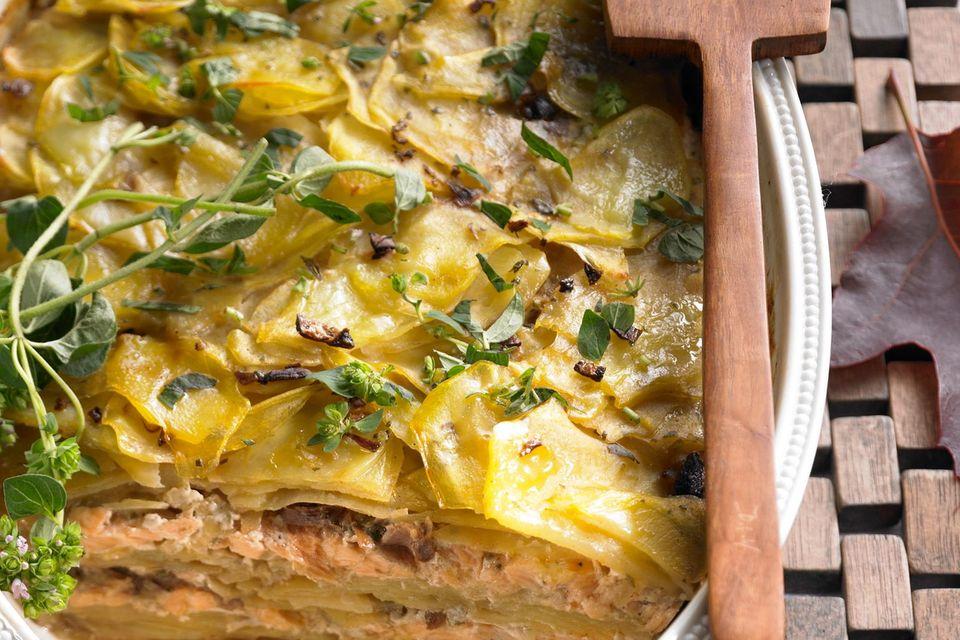 Kartoffelauflauf: Kartoffel-Lachs-Auflauf
