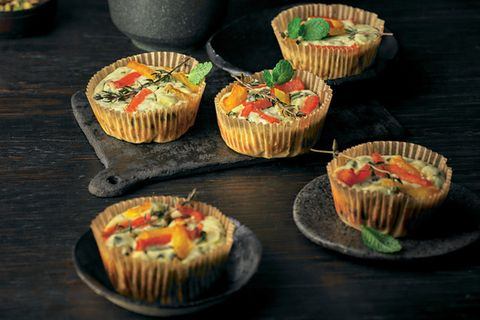 Buffet-Rezepte: Ziegenfrischkäse-Muffins