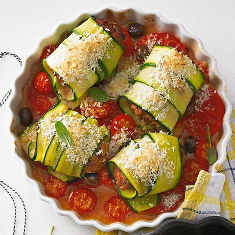 Zucchini-Hack-Rouladen