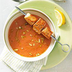 Melonen-Gazpacho mit Lachs