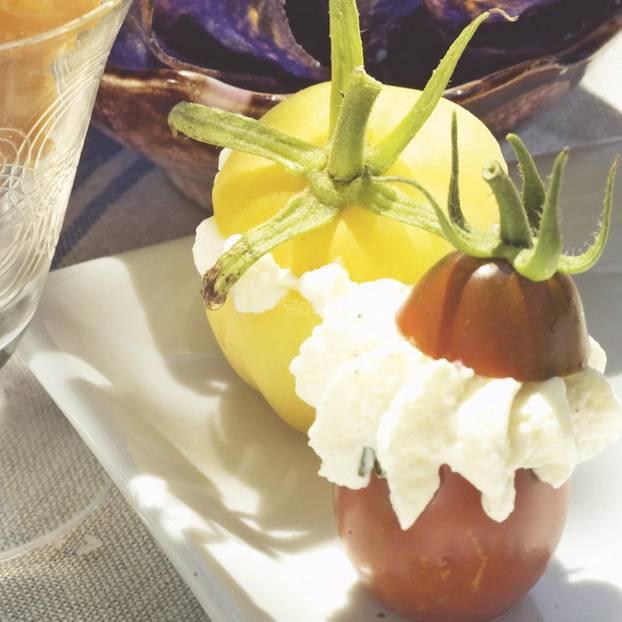 Gefüllte Mini-Tomaten