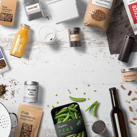 Food News: Verschiedene Produktverpackungen