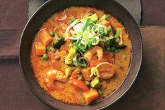 Thai-Curry-Eintopf mit Garnelen