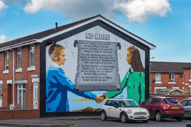 West-Belfast: Wandbild