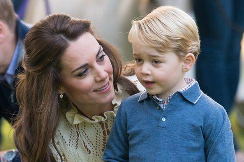 Prinz George mit Herzogin Kate