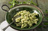 Petersilienwurzel-Risotto mit Pesto