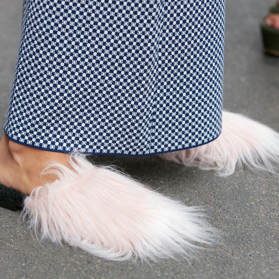 Trend: Schuhe mit Fell
