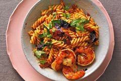 Fusilli mit Paprika-Pesto