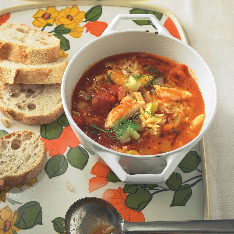 Tomaten-Fisch-Eintopf mit Pernod