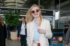 Reiselooks: Schauspielerin am Flughafen