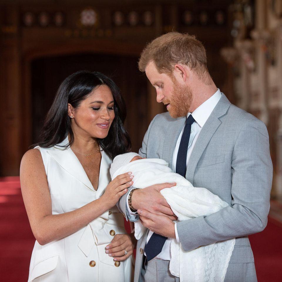 Meghan und Harry mit Baby Archie