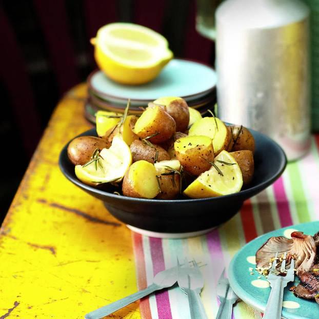 Knoblauch-Zitronen-Kartoffeln