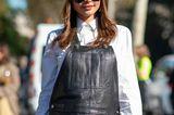 Trendfrisuren für den Sommer: Frau mit Baskenmütze