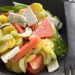 Kartoffelsalat mit Melone