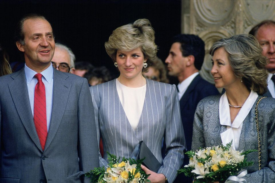 Juan Carlos, Lady Diana Spencer und Königin Sofia