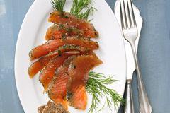 Graved Lachs mit Honig-Senf-Soße