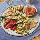 Gesund grillen: Gegrilltes Gemüse und Hähnchen