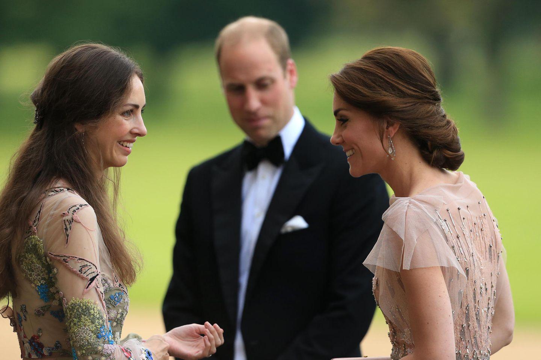 Ärger für Herzogin Kate? Treffen mit Rose Hanbury beim Staatsbankett: Herzogin Kate, Prinz William und Rose Hanbury