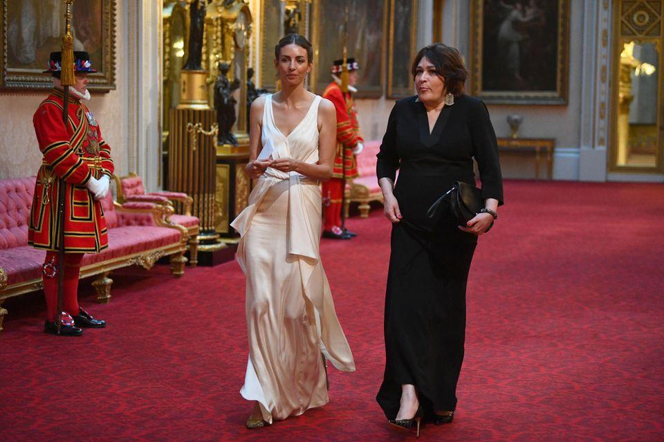 Ärger für Herzogin Kate? Treffen mit Rose Hanbury beim Staatsbankett: Rose Hanbury bei ihrer Ankunft