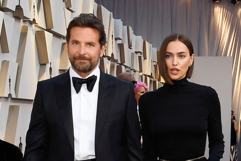 Bradley Cooper mit Irina Shayk auf dem roten Teppich