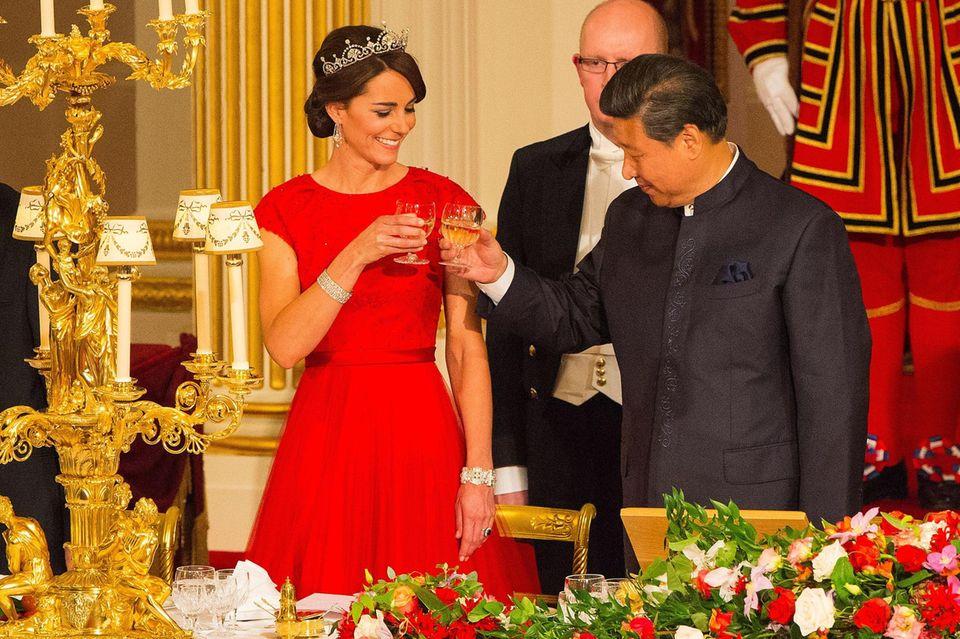 Staatsbankett: Herzogin Kate und Xi Jinping 2015