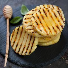 Ananas grillen: Gegrillte Ananasscheiben