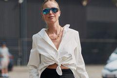 Knotenbluse: Leonie Hanne