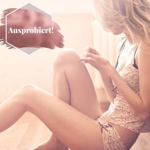 Periodenunterwäsche: Frau in Unterwäsche