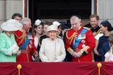 Trooping the Colour: Die Royal Family versammelt sich auf dem Balkon