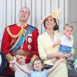 Trooping the Colour: Prinz William, Herzogin Kate und die Kinder Prinz Louis, Prinzessin Charlotte und Prinz George