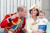 Trooping the Colour: Prinz William, Herzogin Kate und Prinz Louis