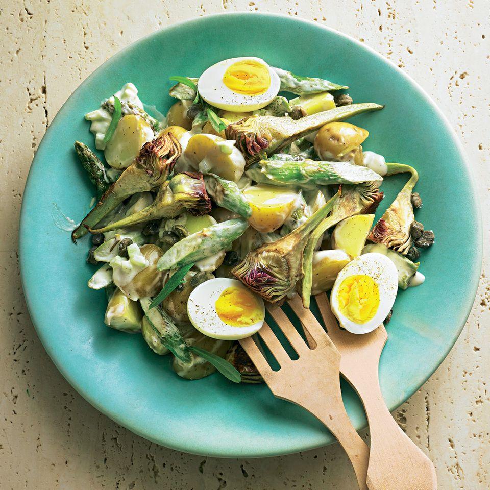 Kartoffel-Artischocken-Salat