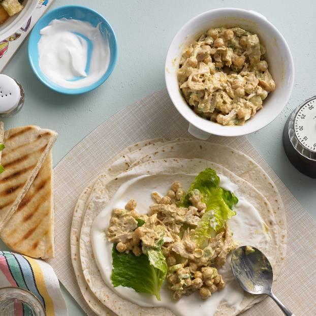 Hähnchen-Kichererbsen-Salat