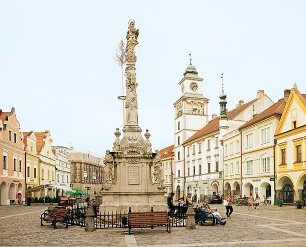Radeln im Böhmerwald: Trebons Marktplatz