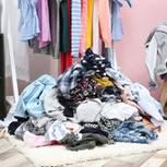 Ordnung halten: Klamottenstapel