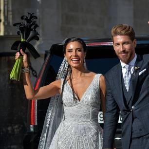 Hochzeit von Pilar Rubio und Sergio Ramos: Warum die Braut einen schwarzen Brautstrauß trug
