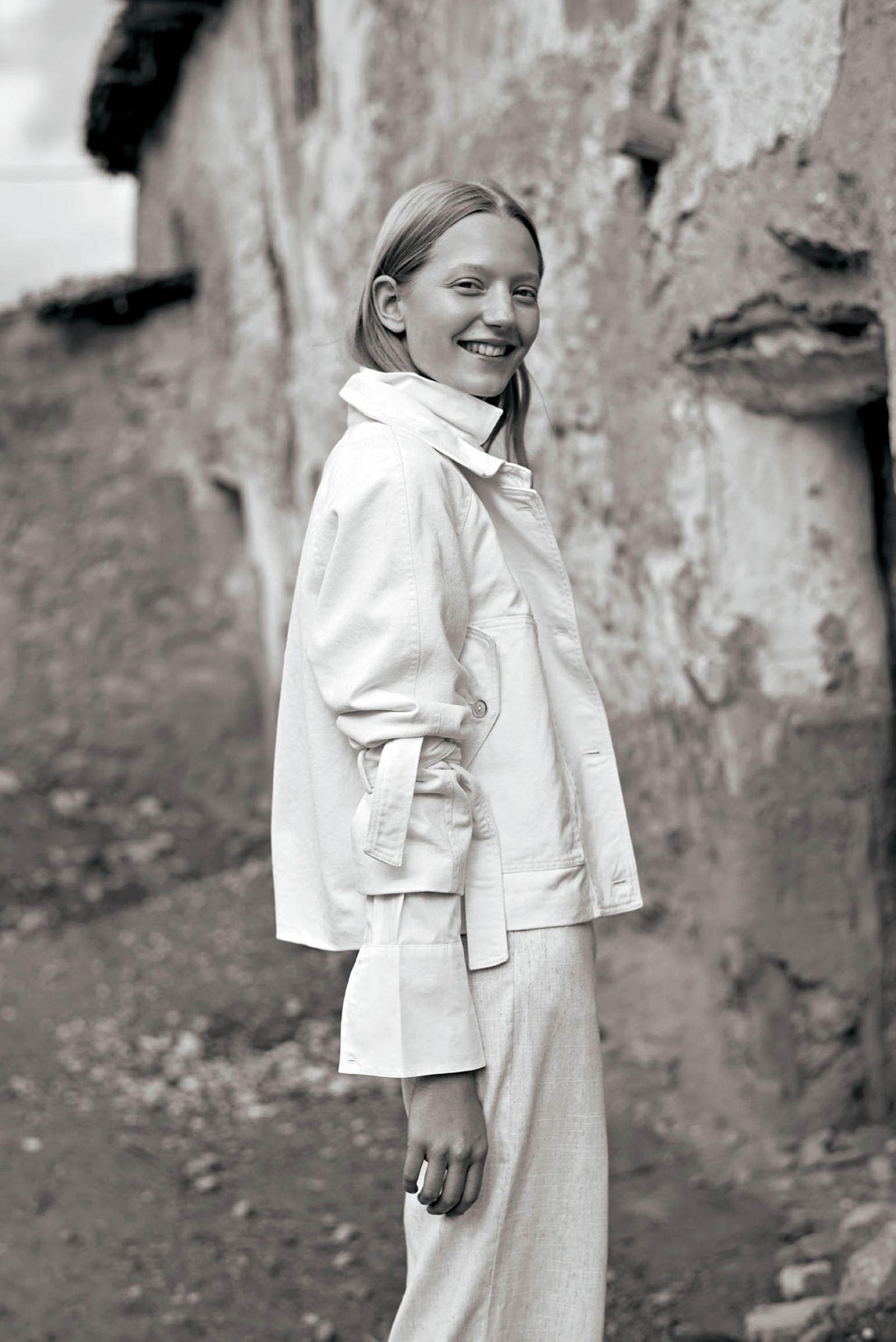 Weißtöne: Jeansjacke