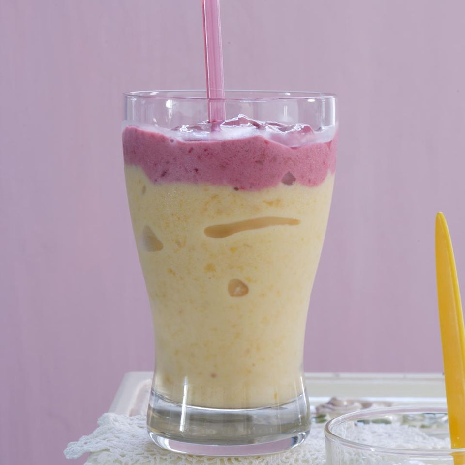 Pfirsich-Himbeer-Smoothie