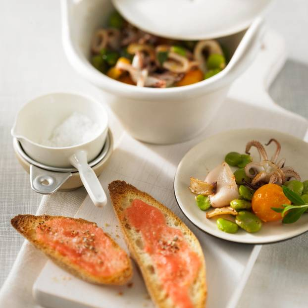 Calamari-Bohnen-Pfanne