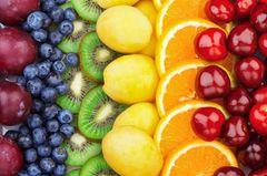 Fructose: Diverse Obstsorten zusammen