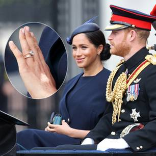Herzogin Meghan: Ihr Eternity-Ring hat eine geheime Botschaft: Herzogin Meghan und Prinz Harry