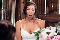 Pennsylvania: Schmetterlinge rühren bei Hochzeit zu Tränen: Braut Lydia mit einem Schmetterling in ihren Haaren