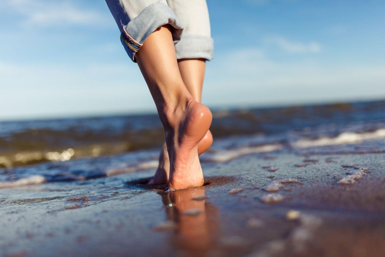 Über einen kleine kleine Strandverletzung können fleischfressende Bakterien eindringen.