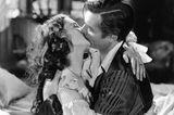 """Die schönsten Filmküsse: Clarke Gable und Vivien Leigh in """"Vom Winde verweht"""""""