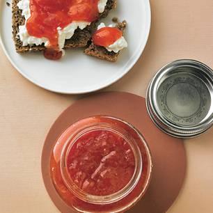 Erdbeer-Limette-Fruchtaufstrich