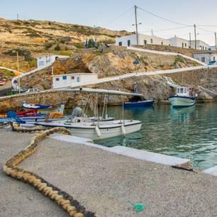 Antikythira: Kleiner Hafen und weiße Häuser