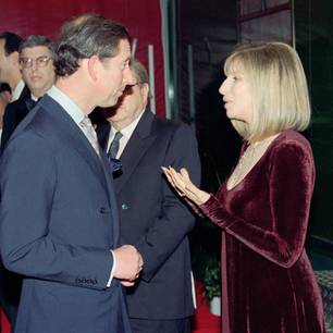 Barbara Streisand mit Prinz Charles