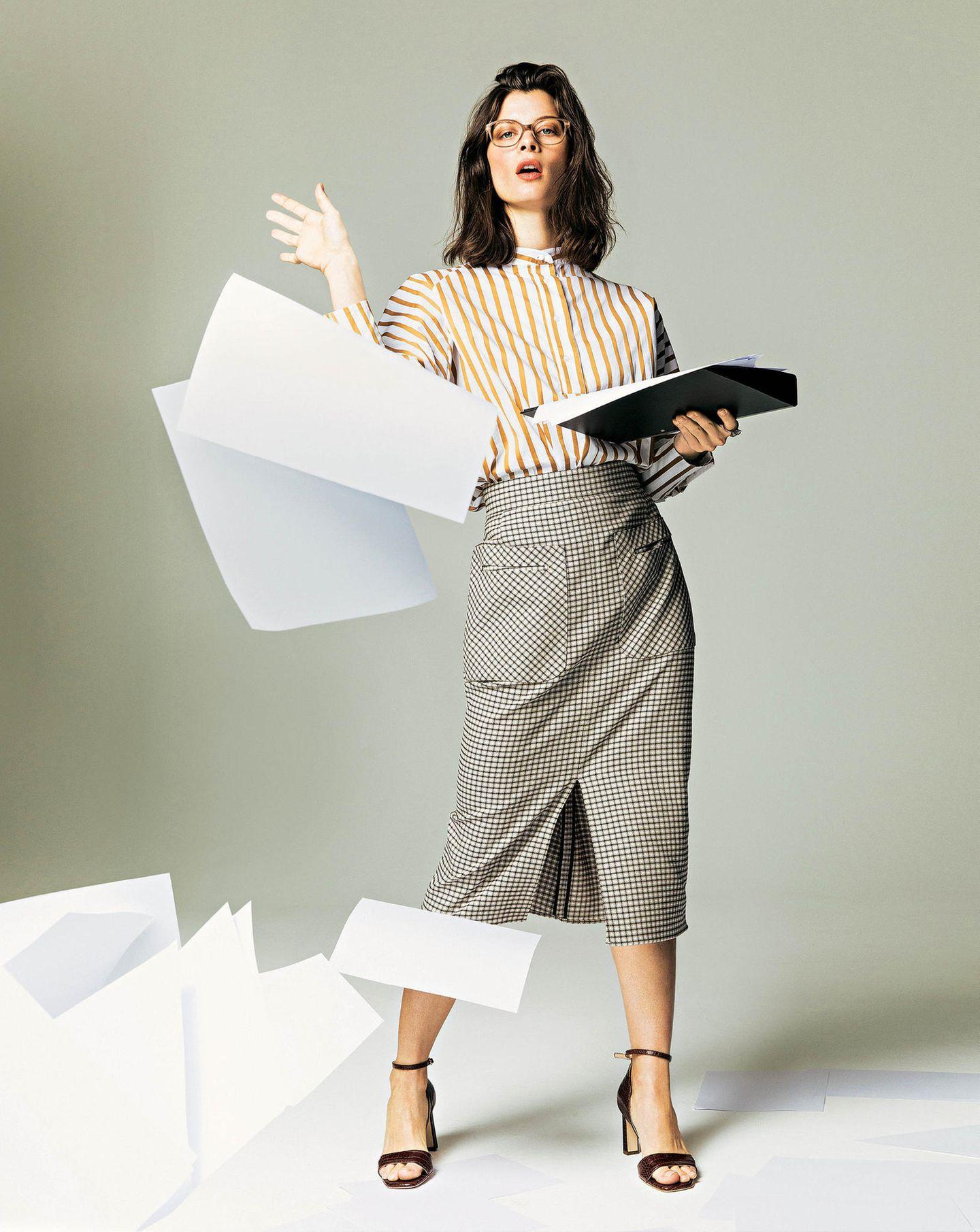 Büro-Look: Bleistiftrock